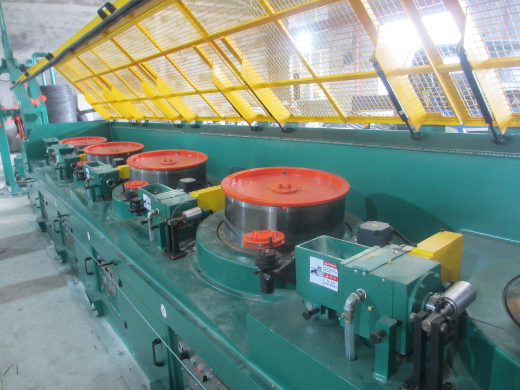 0.7mm Carbon Steel Wire Straight Wire Drawing Machine , High Efficient Wire Processing Machine